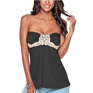 New! Women's Embellished Strapless Top Size S-XL